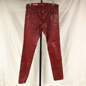 ADRIANO GOLDSCHMIED Leatherette Super Skinny Jeans